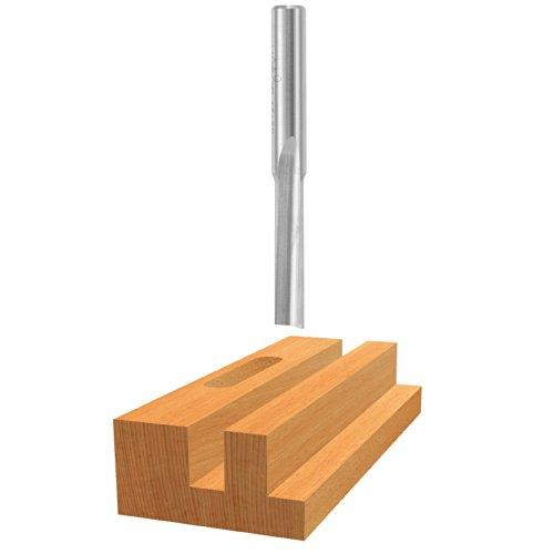 (Bosch 85154 High Speed Steel Single Flute Straight Bit, 1/4-Inch)