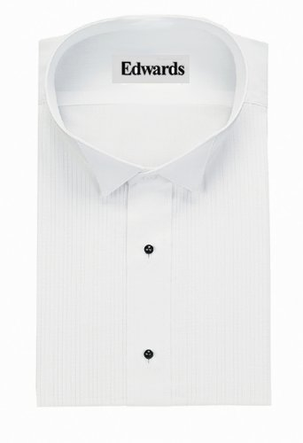 "Edwards Garment Men's Tuxedo Shirt- 1/8"" Wing Collar, White"