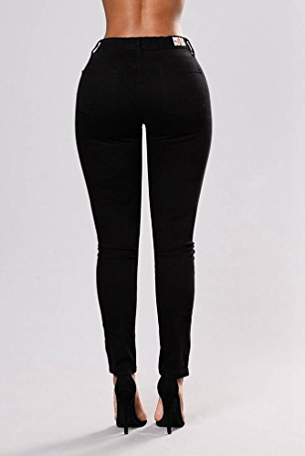 Noir Pants Slim Collants Crayon Pantalon Leggings Broderie Jeans WanYang Femmes Denim Jeans WznAaxP