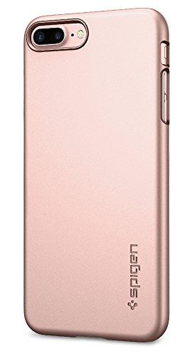 Spigen Thin Fit iPhone 8 Plus / 7 Plus Case with Premium Matte Finish Coating and QNMP Compatible for Apple iPhone 8 Plus (2017) / iPhone 7 Plus (2016) - Rose Gold