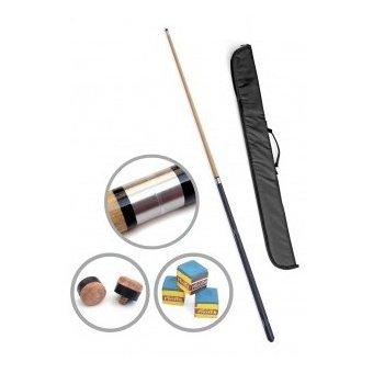 Billardqueue für Profis, mit Transporttasche (Messing-Verschraubung und Aluminium-Struktur (2 Teile))