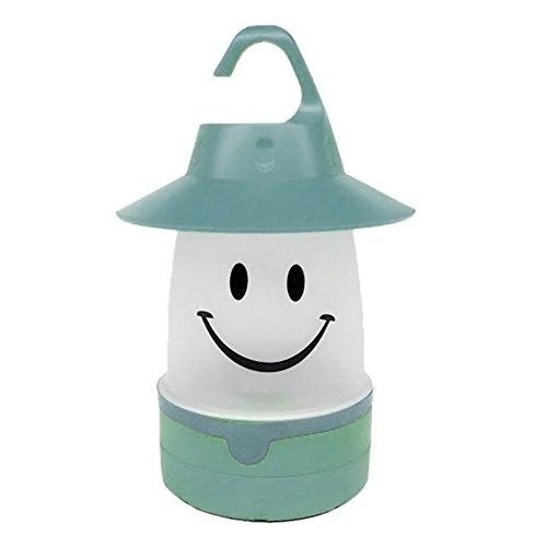 Braceus Smile Face LED Lantern Kids Holiday Gift Outdoor Camping Night Light Lamp Kids Room Light (Green)