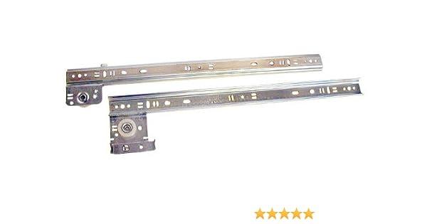 Knape /& Vogt 24in Side Drawer Guide Bulk 10 sets Zinc Plated Steel
