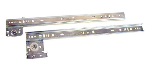 Knape & Vogt 22in Side Drawer Guide Zinc Plated Steel