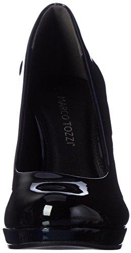 Marco Tozzi 22410, Zapatos de Tacón para Mujer Azul (Navy Patcomb)