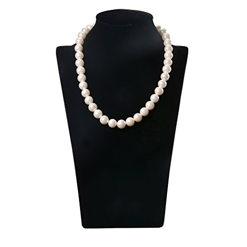 Romantic Time Classic Baroque Single Strand Princess Shell Pearl Necklace (white)