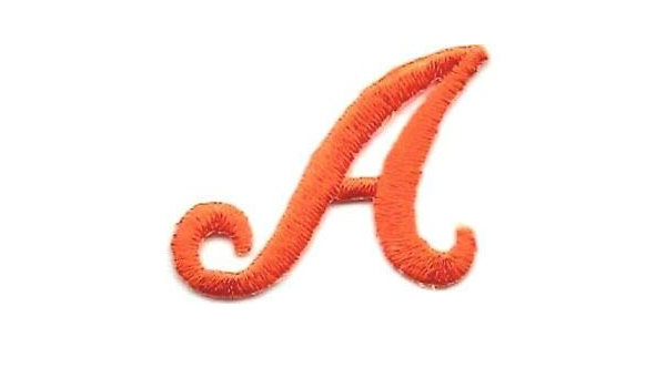 "1 1//8/"" White Script Cursive Alphabet Letter S Embroidered Patch"