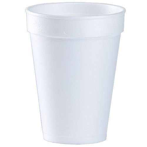 16 Oz. White Disposable Drink Foam Cups Hot and Cold Coffee Cup (Pack of 50)