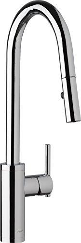 Danze D454058 Modern Parma Cafe Pull-Down Kitchen Faucet with Snapback Retraction, - Faucet Globe Kitchen Danze Union