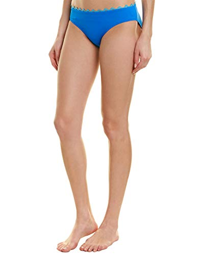 Anne Cole Women's Frank Classic Mid-Rise Retro Scoop Bikini Bottom Swimsuit, New Blue RIC rac, X-Large