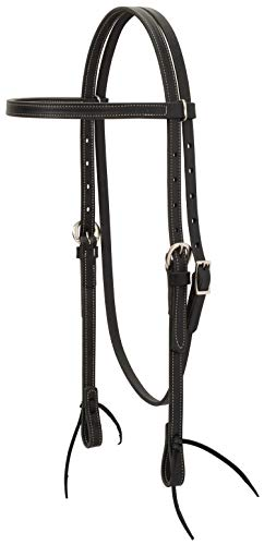 Weaver Leather Black Leather Browband Headstall ()