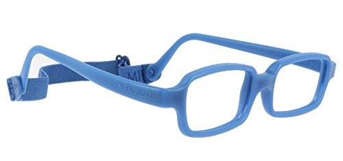 Miraflex New Baby2 Built Up Bridge Eye Glass Frames | 42/14 | Dark Blue | Age:5-8 - Eyewear Miraflex Eyeglasses