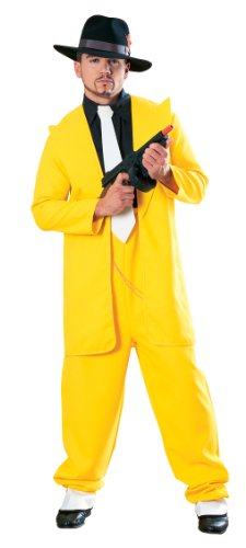 Yellow Zoot Suit Costume (Yellow Zoot Suit Adult Costume - Standard)