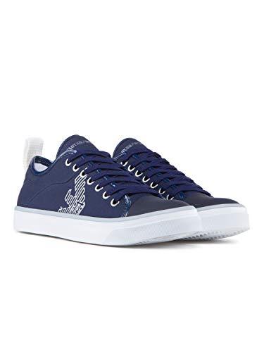 Mujer Logo Azul Zapatillas Emporio Pump Armani qHnRt