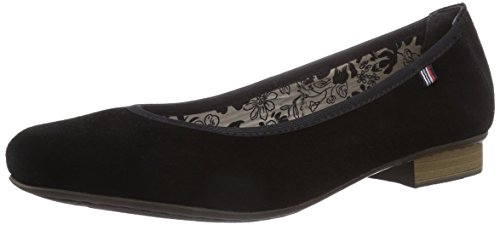 Rieker 51994, WoMen Closed Toe Ballet Flats Black (Schwarz / 00 00)