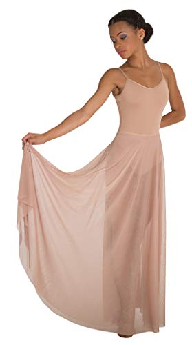 Body Wrappers Adult Long Full Chiffon Skirt (Nude, S/M) - 541 ()