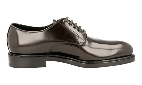 Prada Men's 2EA072 055 F0192 Brown Leather Business Shoes EU 10 (44)/US 11 by Prada (Image #5)