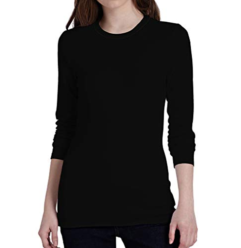 Miracle(Tm) Athletic Compression Underscrub Long Sleeves Shirt - Womens Undershirt Long Sleeves Black Apparel (S) ()