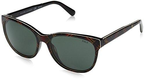 Polo Ralph Lauren Women's Acetate Woman Wayfarer Sunglasses, Shiny New Red Havana, 56 ()
