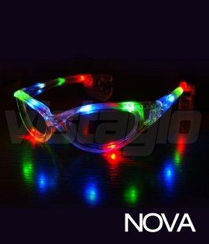 ac1720f676dde6 Lunettes lumineuses Nova LED Multi couleurs - Idéal pour vos soirées ...