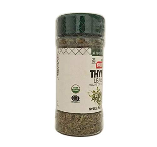 0.75 oz Bottle Whole Organic Thyme Leaves/Hojas de Tomillo Organico Kosher