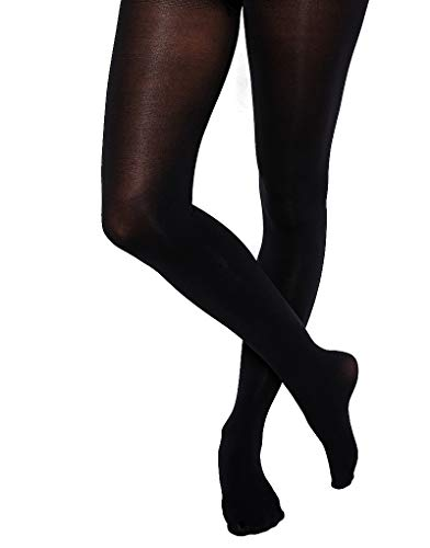 - Levante Cashmere Tights-Nero/Nero-Tall