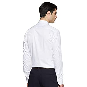 Amazon Brand – Symbol Men's Classic Solid Regular Fit Full Sleeve Cotton Formal Shirt