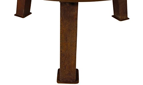 MagJo Rustic Cast Iron Wood-Burning Fire Pit Bowl, 30 Inch Diameter (Rust) - Overall dimensions: 30 inch diameter x 15 inches tall. Bowl is 6 inches deep. Handle to Handle measures 34.5 inches. havy dut cast iron construction! With a weight of over 25 pounds, this fire pit is a sturdy and reliable addition to any backyard. 1-year manufacturer's warranty. - patio, outdoor-decor, fire-pits-outdoor-fireplaces - 31Fr0EA J6L -