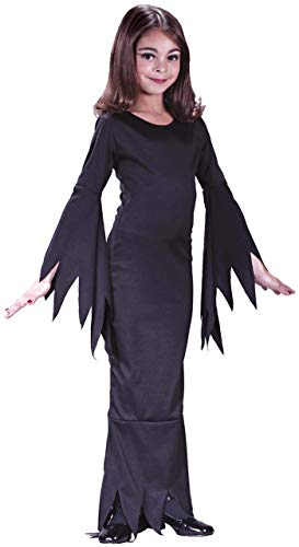 Child's Girls Morticia Addams Family 1960s Halloween Fancy