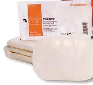 Exu-Dry Gauze Dressing, 6 Inch X 9 Inch, Non-Adherent, Smith Nephew 5999006 - Single Bandage ()