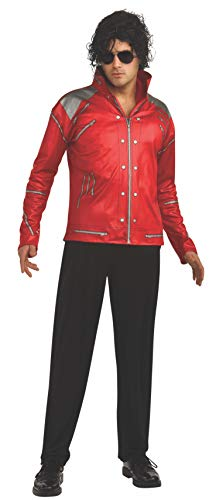 Rubie's Men's Michael Jackson Value Beat It Red Zipper Costume Jacket, As Shown, Medium]()