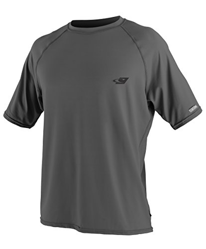 O'Neill Wetsuits UV Sun Protection Mens 24-7 Tech Short Sleeve Crew Sun Shirt, Graphite, X-Large