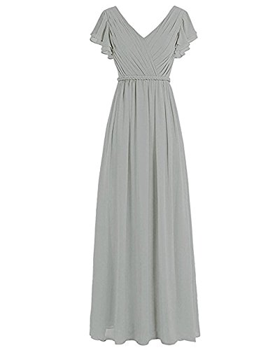 Kleid Silber the Beauty A of Damen Leader Linie AwS6q6