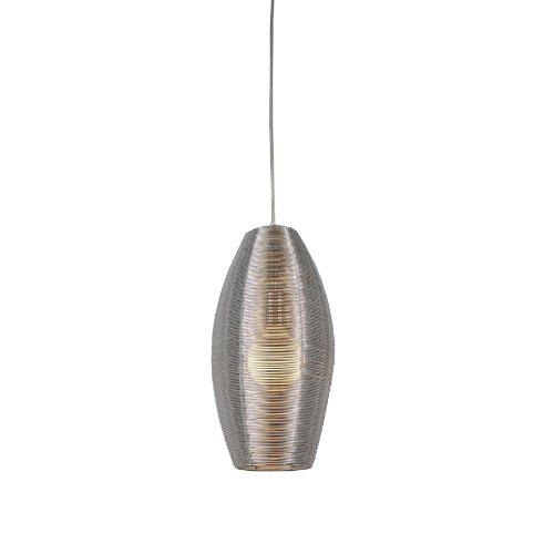 Bromi Design B1403 Lenox 1 Light Round Pendant, Stainless Steel