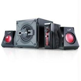 Genius Speaker 31730980101 SW-G2.1 1250 38W 3.5mm 90dB PC/TV/DVD/Game Electronic Consumer Electronics by Genius