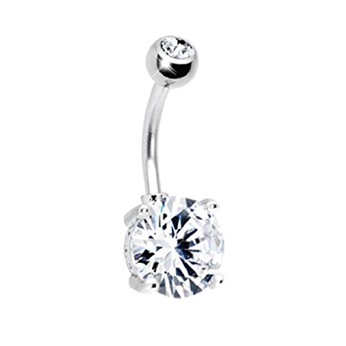 silver belly button rings - 6
