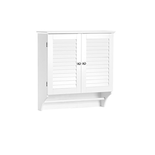 RiverRidge Ellsworth Collection Two-Door Wall Cabinet, White (Cabinet Bar Corner White)