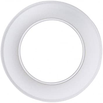 Kamino - Flam – Rosetón para tubo de chimenea (Ø 120 mm), Rosetón anillo para tubos de estufa, Rosetón conector para sistema de chimeneas, estufas, ventilaciones – acero resistente y durable - blanco