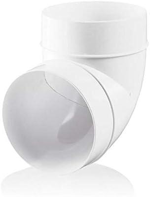 /90/Degree Bend/ /150/mm Blauberg UK 6/pulgadas 150/mm conducto de pl/ástico redondo y accesorios para ventilador Extractor ventilaci/ón/
