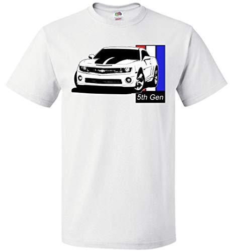 Aggressive Thread 5TH Gen Chevy Camaro SS T-Shirt White