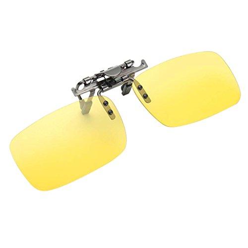 Regalo Polarizadas Protecciójn Hombre UV para 400 Baosity Gafas Solar Lentes Mujer vision de con B Clip nocturna Sol 8gn0Hf7