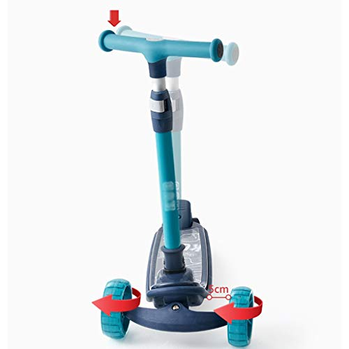 Djpcvb Scooter 6-12 Years Old Scooter boy Beginners Slide car Flash Wheel Pedal yo car Foldable Kick Scooter (Folding Scooter 50cc)