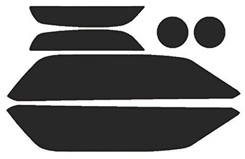 Precut Vinyl Tint Cover for 2015-2017 Ford Mustang Headlights (20% Dark Smoke)