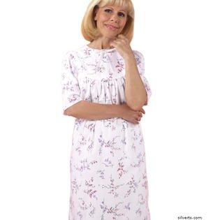 silverts 262500502 Womens Algodón Hospital Paciente fiesta – malva flores & # 44; ...