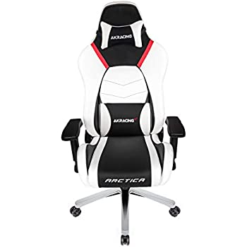 AKRacing Masters Series Premium Gaming Chair with High Backrest, Recliner, Swivel, Tilt, 4D Armrests, Rocker and Seat Height Adjustment Mechanisms with 5/10 ...