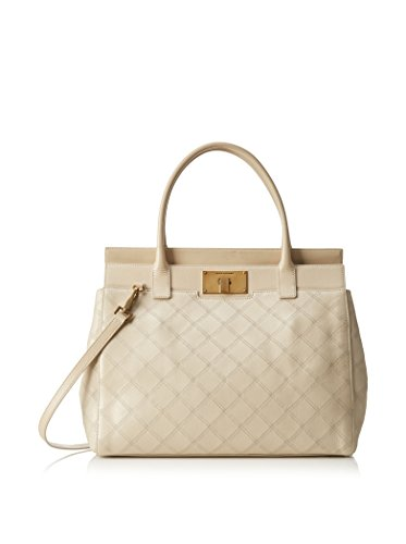4331s Borsa Donna Marc Jacobs Grand Buddy Pelle Beige Vintage Effet Sac Femme Lait / Or Antique