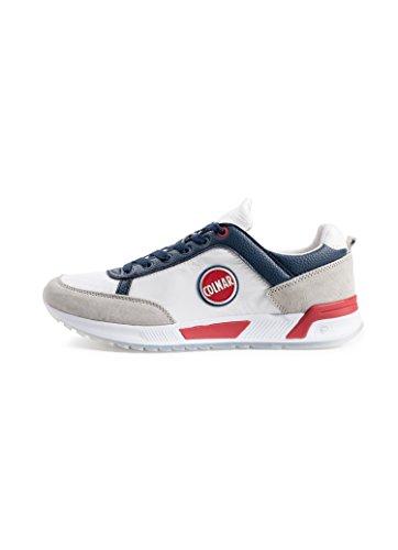 Sneakers Uomo Running Modello Travis Nylon Pelle Bianco Originals Colmar nbsp; Scamosciata d5wqxEd