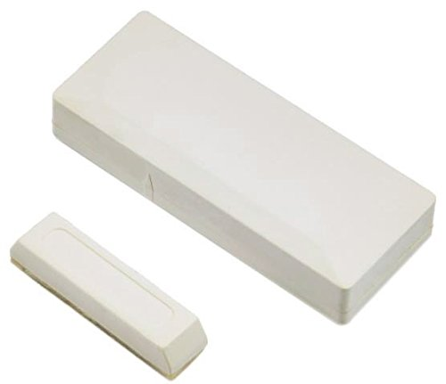 2GIG Compatible Wireless Thin Door Window Contact Sensor Magnet w/ 3M Mounting Tape / Hardware & Battery Included 345 Mhz - Various Colors Available (White)