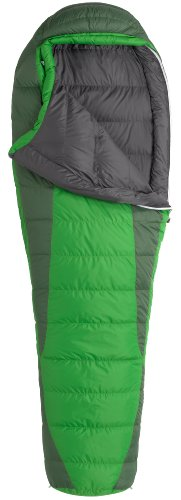 Marmot Never Winter Down Sleeping Bag, Regular-Left, Green, Outdoor Stuffs