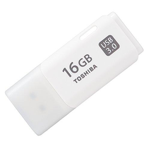 - Toshiba 16 GB USB3.0 Flash Hayabusa white Toshiba overseas packaging capdase